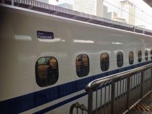 新幹線のなかも オフィスです。