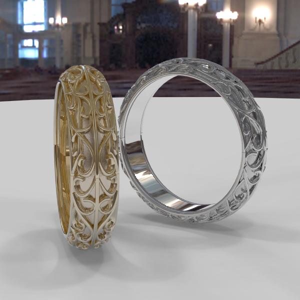 地金だけの指輪を シリーズ化
