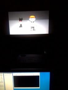 プロジェクターを使って3D表示