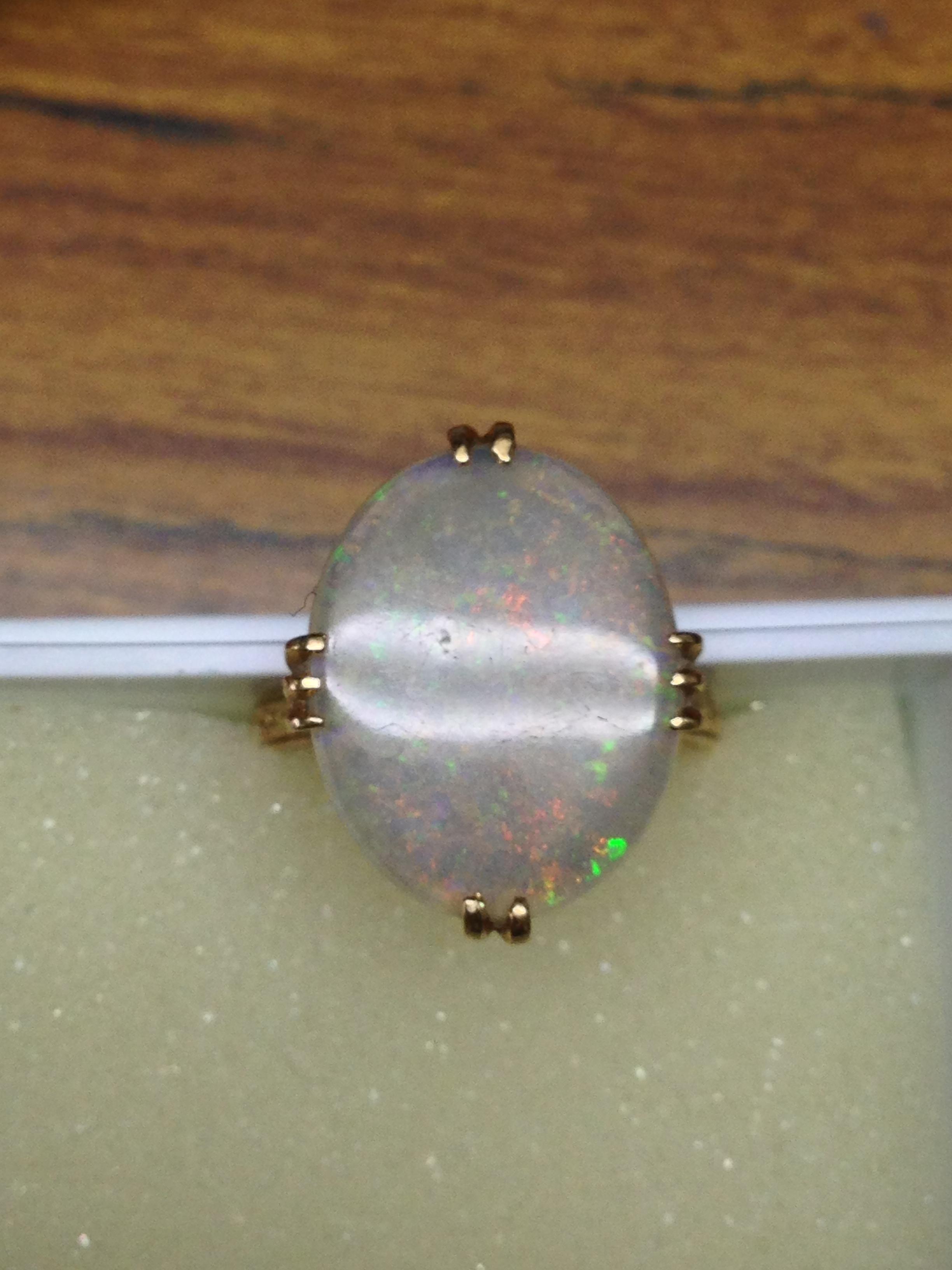 K18オパールの指輪のリフォームのご依頼