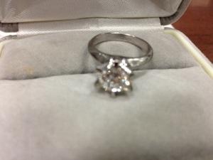 1カラットのダイヤモンド