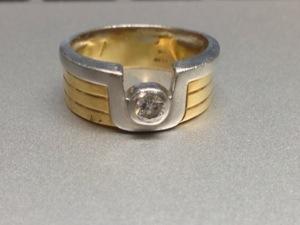 今回 写真の指輪のダイヤを使ってピンクゴールドで。