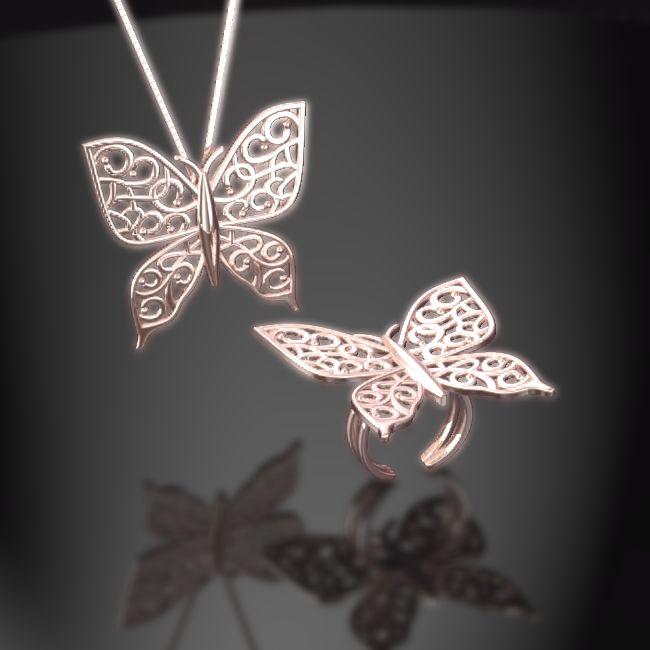 ピンクの蝶 いいかも