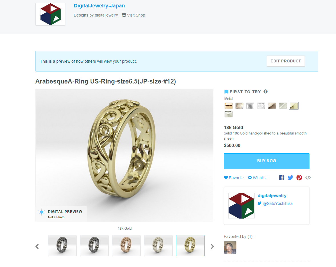 Yippee! You've sold models through your Shapeways Shop