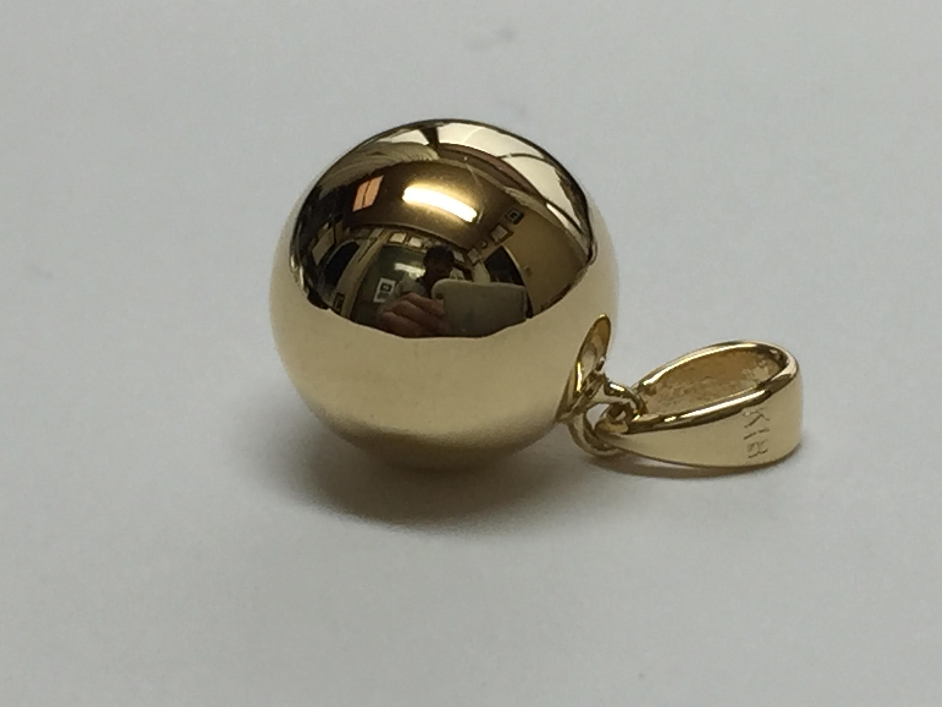 パーフェクト K18丸球ペンダント