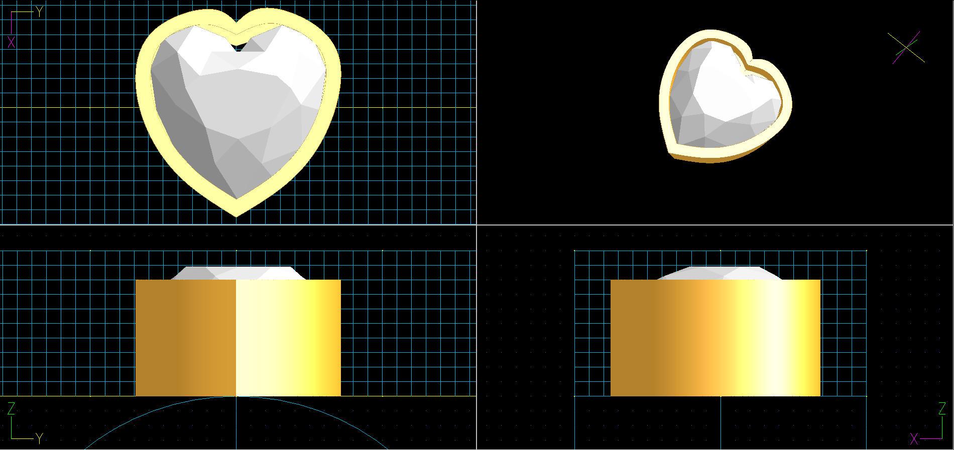 ハート形状は結構難しい。